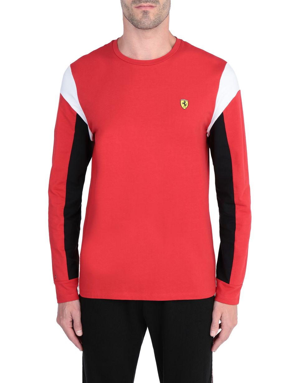 Scuderia Ferrari Online Store - Long-sleeved men's jumper in jersey -