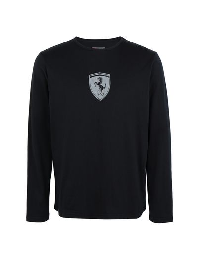 Scuderia Ferrari Online Store - Cotton jersey long-sleeve T-shirt - Long Sleeve T-Shirts