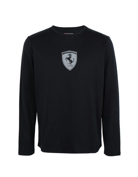 Scuderia Ferrari Online Store - Men's long-sleeved cotton jersey T-shirt - Long Sleeve T-Shirts
