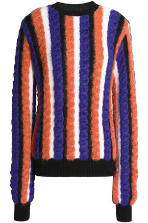 MARCO DE VINCENZO Striped cable-knit sweater