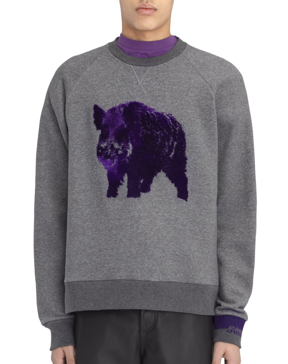 "EMBROIDERED ""BOAR"" SWEATSHIRT - Lanvin"