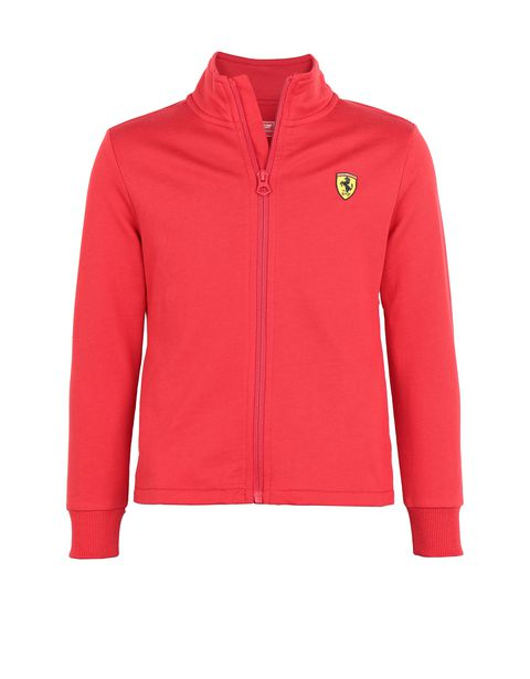 Girls' cotton full zipper sweatshirt