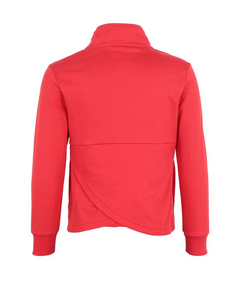 Girls' full zip cotton jumper