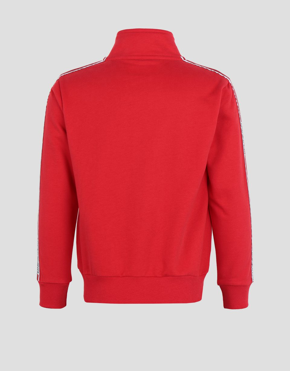 Scuderia Ferrari Online Store - Children's cotton sweatshirt with <i>Icon Tape</i> - Zip Jumpers