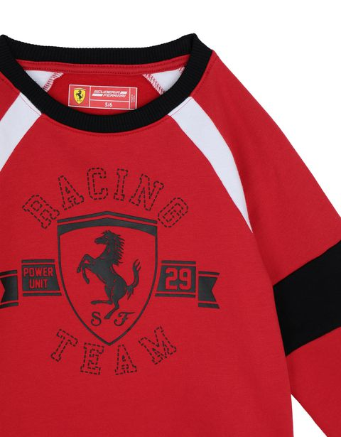 Scuderia Ferrari Online Store - Children's sweatshirt with knit inserts -