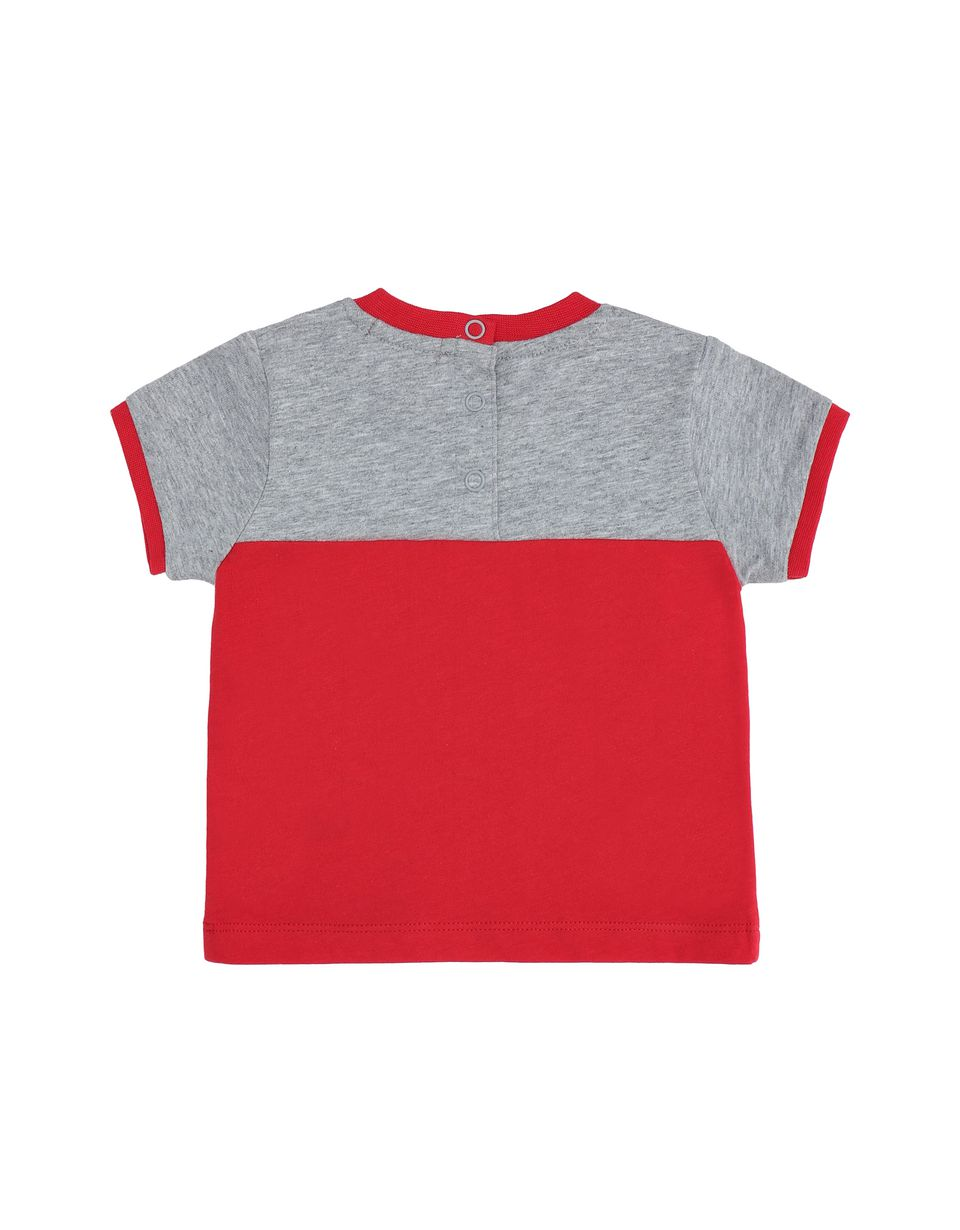 Scuderia Ferrari Online Store - Two-tone infant T-shirt with Shield - Short Sleeve T-Shirts