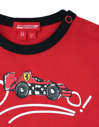 Scuderia Ferrari Online Store - Infant cotton T-shirt with print -