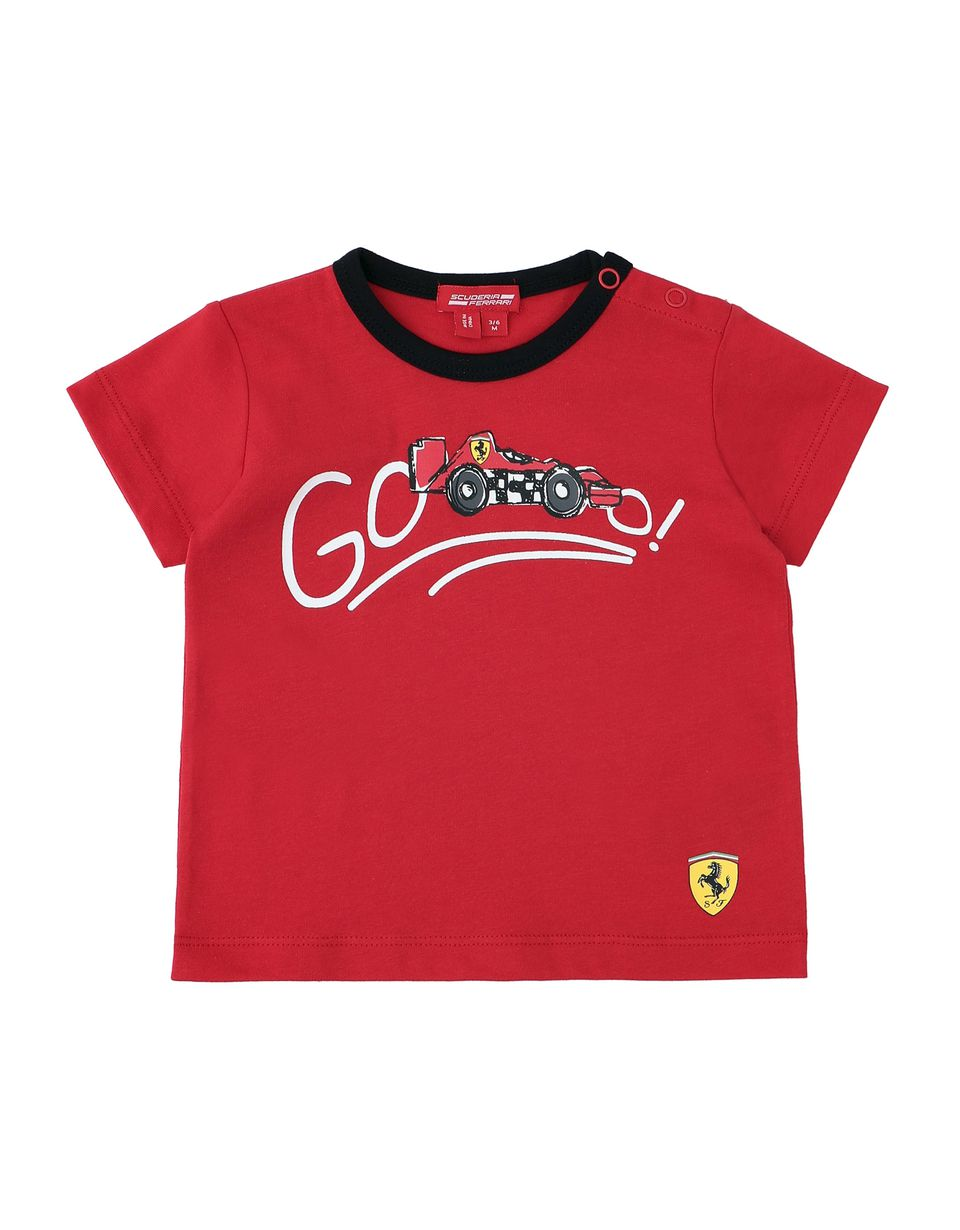 Scuderia Ferrari Online Store - Infant cotton T-shirt with print - Short Sleeve T-Shirts