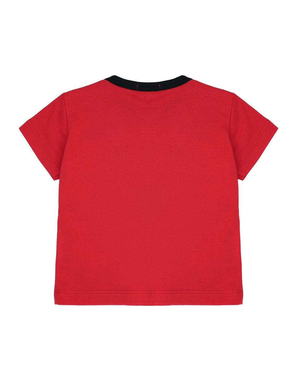 Scuderia Ferrari Online Store - Cotton infant T-shirt with print - Short Sleeve T-Shirts