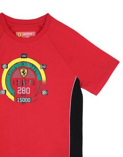 Scuderia Ferrari Online Store - Children's cotton T-shirt with speedometer print -