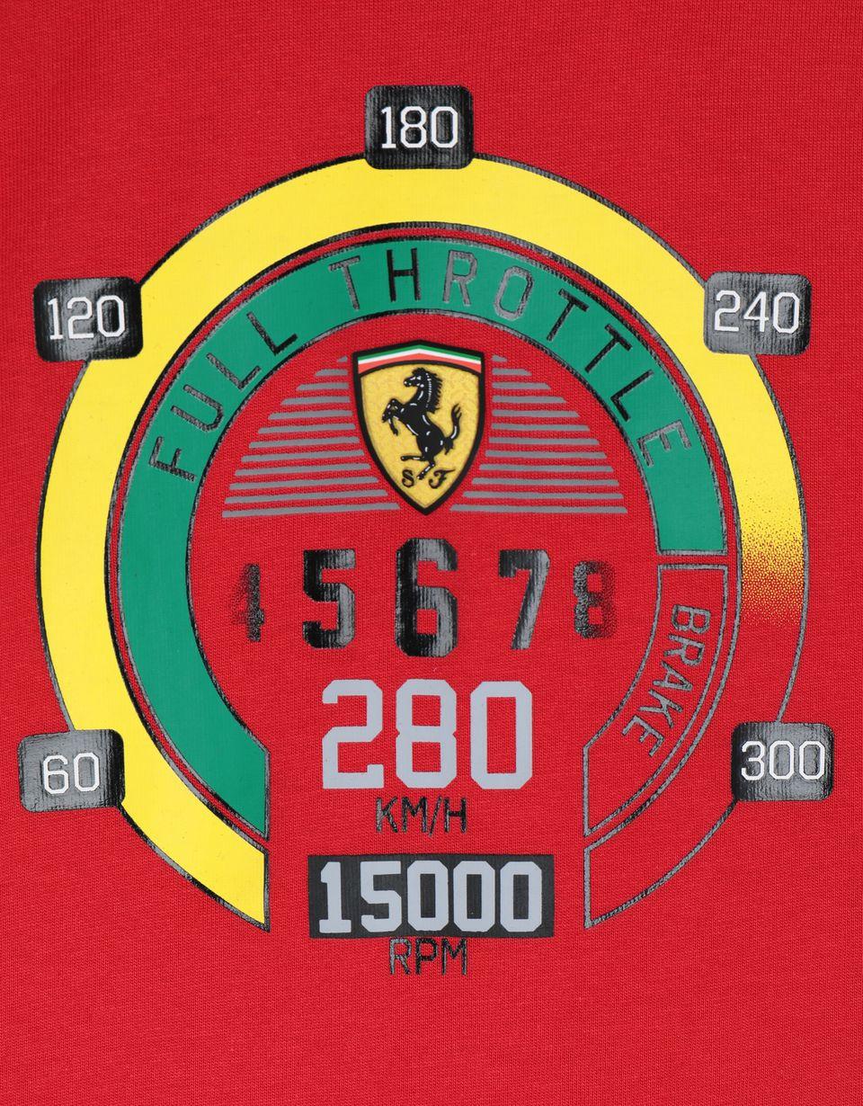 Scuderia Ferrari Online Store - Baumwoll-Kinder-T-Shirt mit Tachometer-Aufdruck - Kurzärmelige T-Shirts