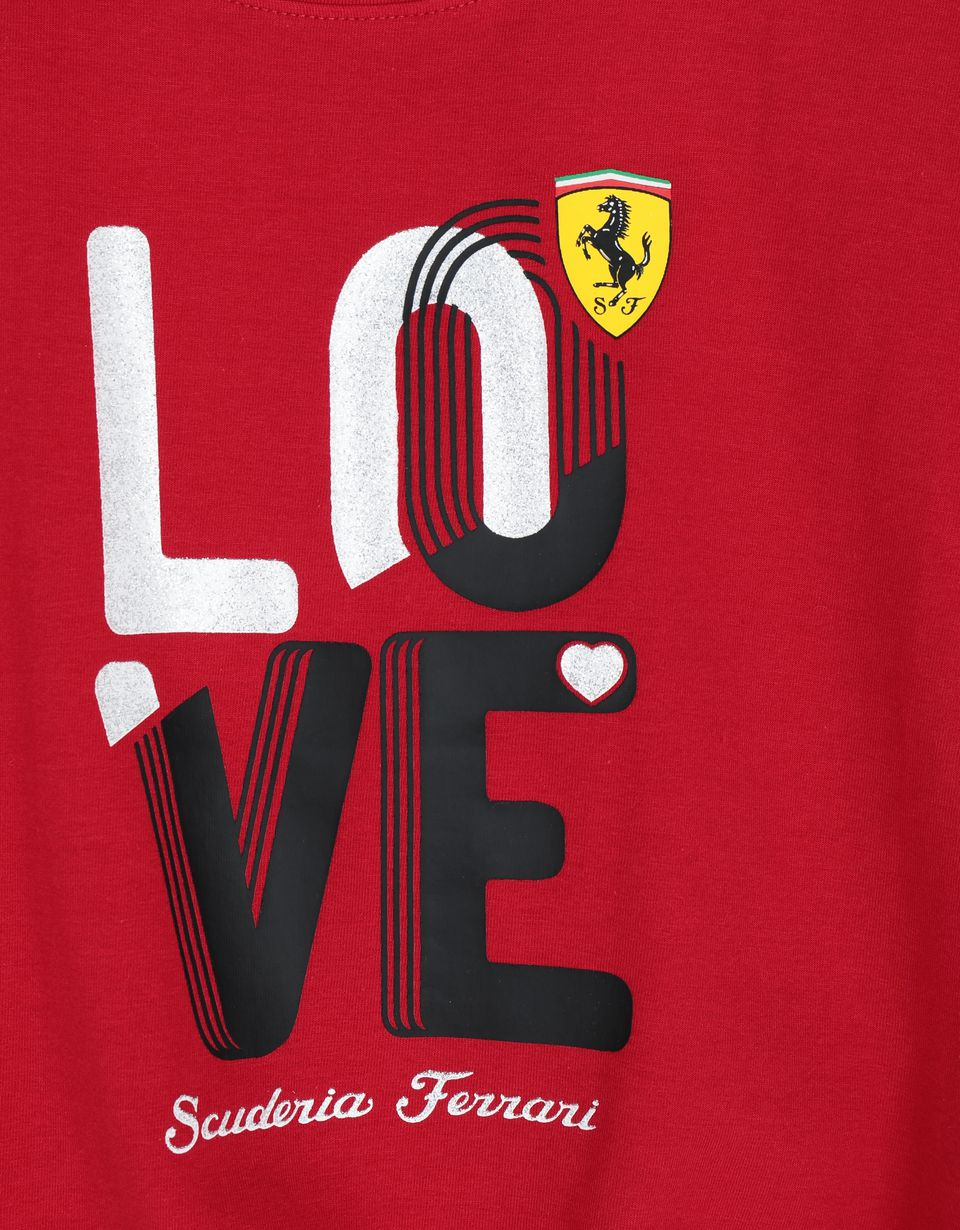 Scuderia Ferrari Online Store - Girls' LOVE T-shirt - Short Sleeve T-Shirts