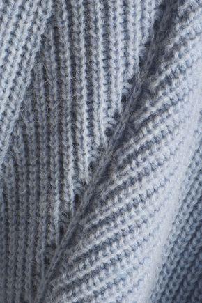 MAJE Ribbed-knit turtleneck sweater