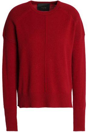 MAJE Matisse mélange rib-paneled cashmere sweater