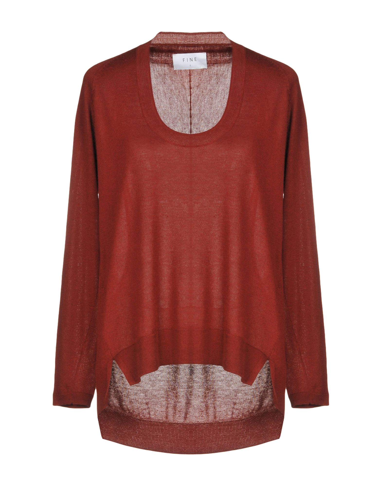 FINE COLLECTION Sweater in Maroon