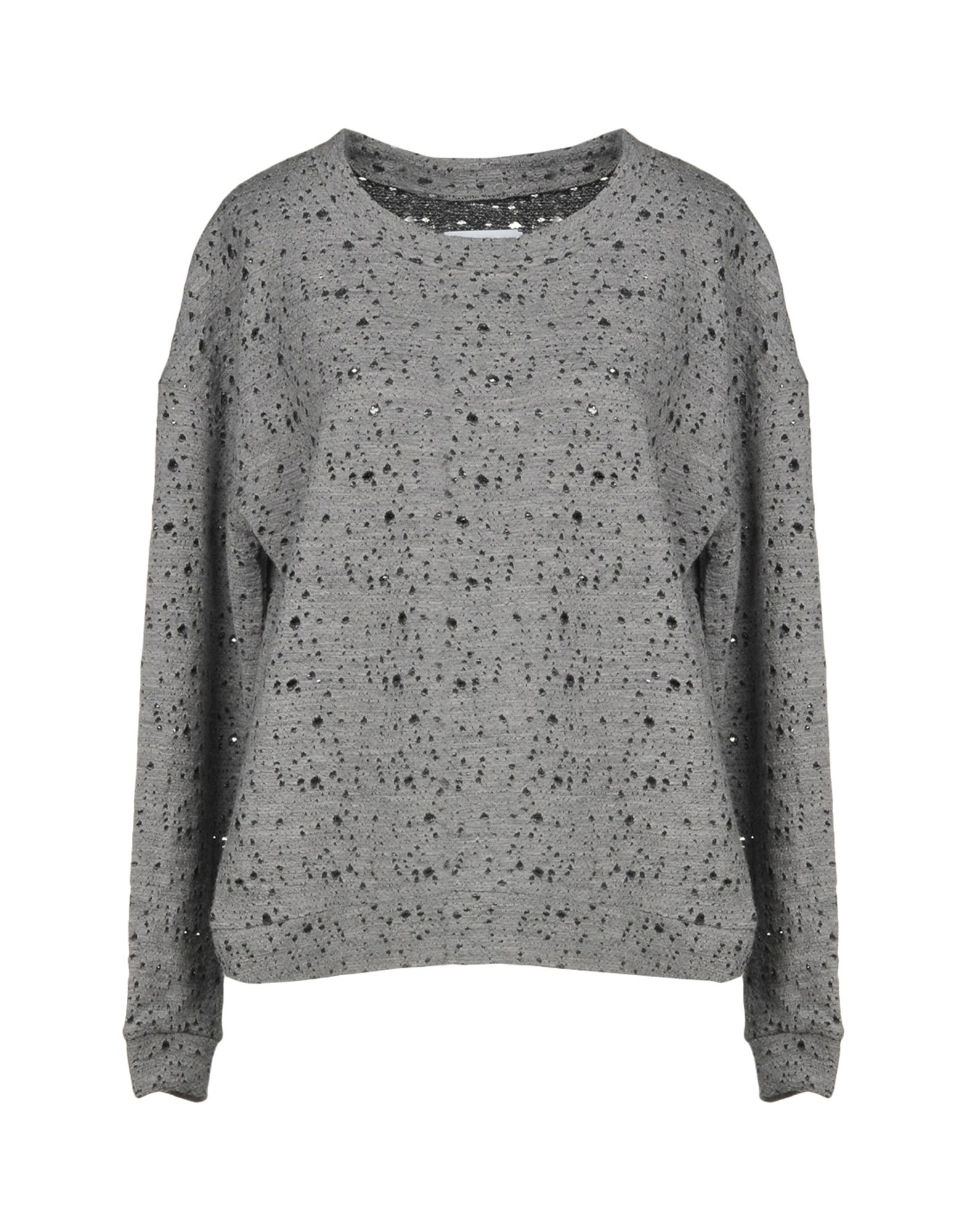 FINE COLLECTION Sweater in Light Grey