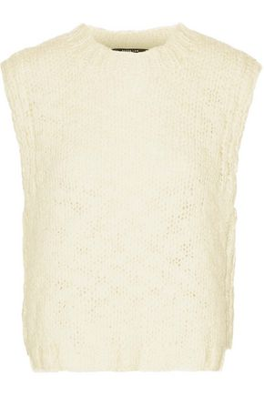 DEREK LAM Open-knit wool vest