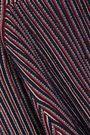 CARVEN Striped cotton-blend turtleneck sweater