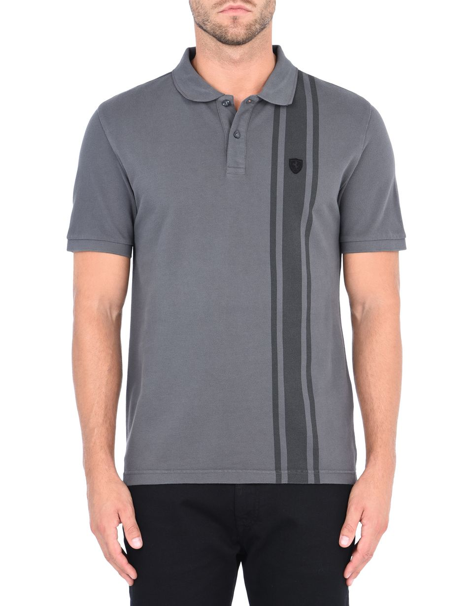 Scuderia Ferrari Online Store - Short-sleeve polo shirt with print - Short Sleeve Polos