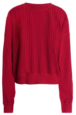 THEORY Pointelle-knit merino wool sweater