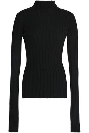 THEORY Ribbed merino wool turtleneck sweater