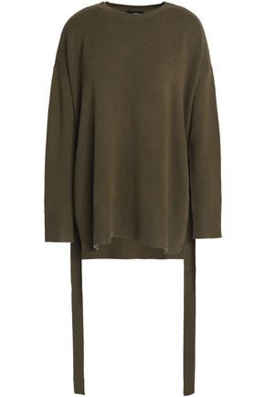 THEORY Lace-up cashmere sweater