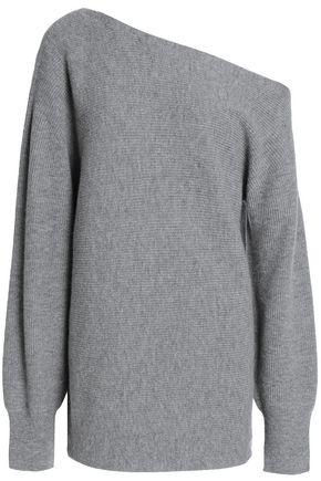 THEORY One-shoulder merino wool sweater