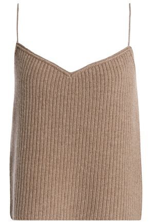 THEORY Ribbed cashmere camisole