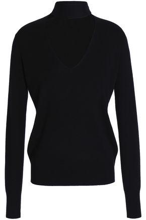 THEORY Cutout silk-blend sweater