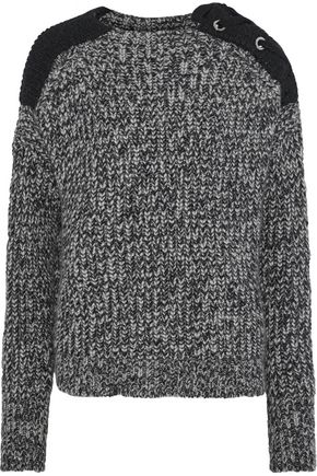 BELSTAFF Shana lace-up mélange alpaca-blend sweater