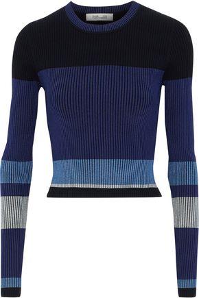 DIANE VON FURSTENBERG Metallic intarsia-knit sweater