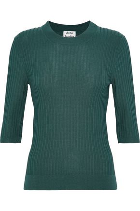 ACNE STUDIOS Iza ribbed cotton-blend sweater