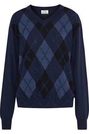 ACNE STUDIOS Argyle merino wool sweater
