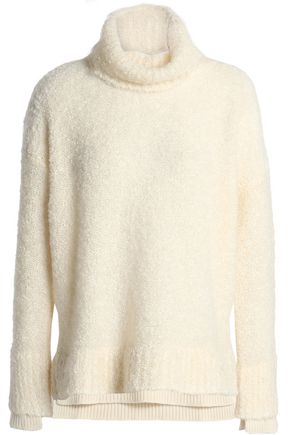 AGNONA Wool-blend bouclé turtleneck sweater