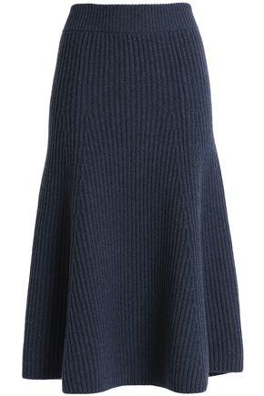 AGNONA Ribbed cashmere skirt