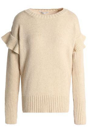 AGNONA Ruffle-trimmed sweater