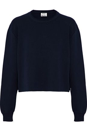 ACNE STUDIOS Misty Clean ribbed-knit cotton-blend top