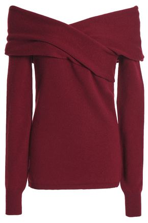 EMILIO PUCCI Off-the-shoulder cashmere-blend top
