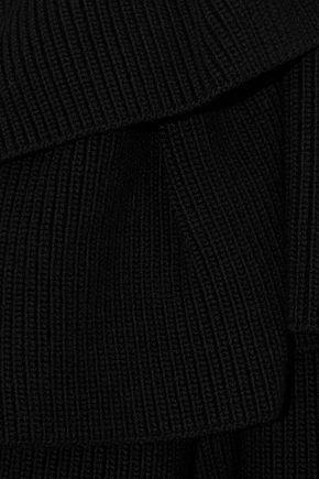 VALENTINO GARAVANI Ruffle-trimmed wool sweater