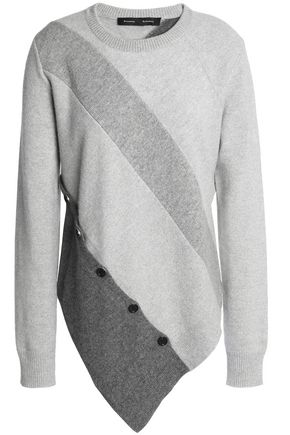 PROENZA SCHOULER Button-embellished wool and cashmere-blend sweater