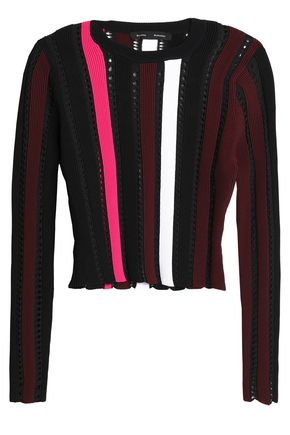 PROENZA SCHOULER Cropped pointelle-knit sweater