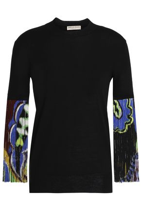 EMILIO PUCCI Fringed knit wool top