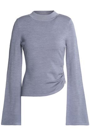 MOTHER OF PEARL Faux pearl-embellished stretch-knit sweater