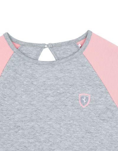 Scuderia Ferrari Online Store - Girls' jacquard sweatshirt - Crew Neck Sweaters