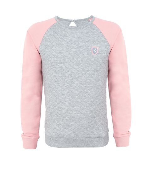 Girls' jacquard sweatshirt
