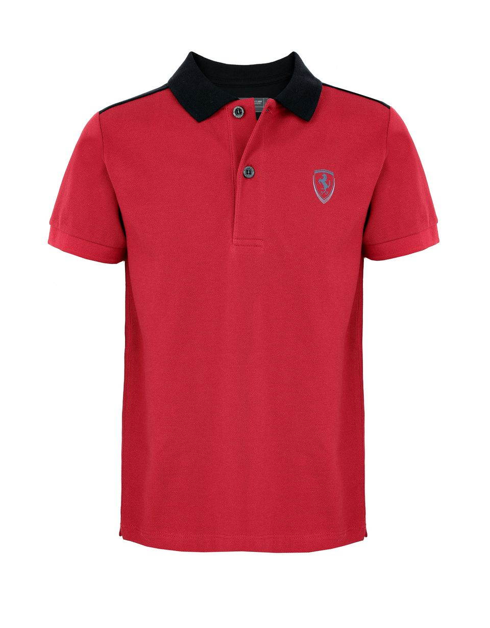 Scuderia Ferrari Online Store - Long sleeved women's polo shirt - Short Sleeve Polos