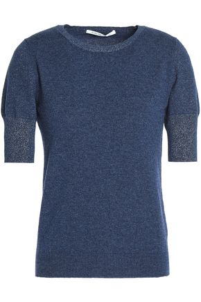 AGNONA Metallic cashmere top