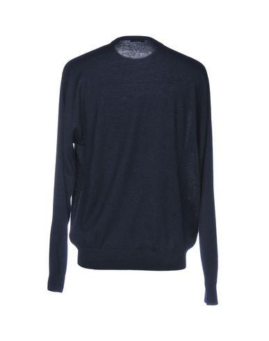 Фото 2 - Мужской свитер CASHMERE COMPANY темно-синего цвета