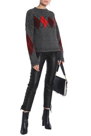 ISABEL MARANT Argyle wool and alpaca-blend sweater