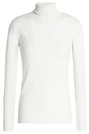 M MISSONI Jacquard-knit wool turtleneck sweater